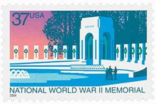 20 National World War II Memorial Postage Stamps - 37c - 2004 - Unused