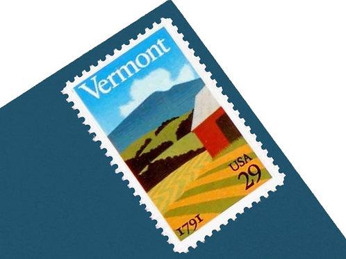 29¢ Vermont Statehood - 25 Stamps