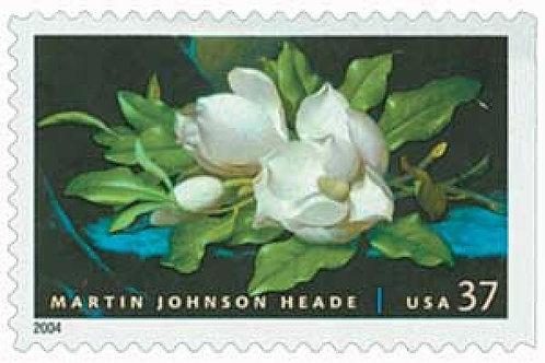 20 Martin Johnson Heade Painting Postage Stamps - 37c - 2004 - Unused