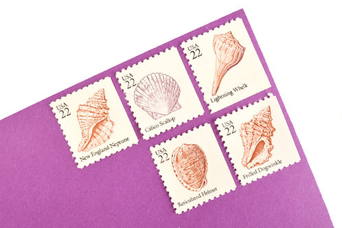 22¢ Seashells - 20 Stamps