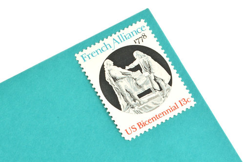 13¢ French Alliance - 25 Stamps