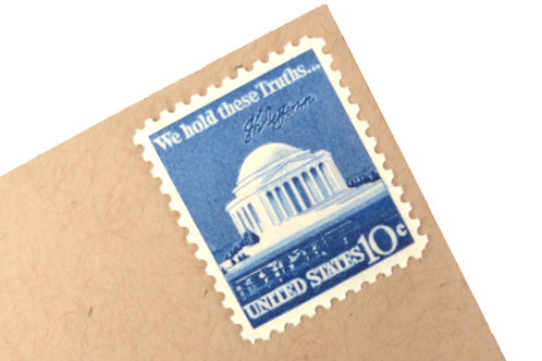 10¢ Jefferson Memorial - 25 Stamps