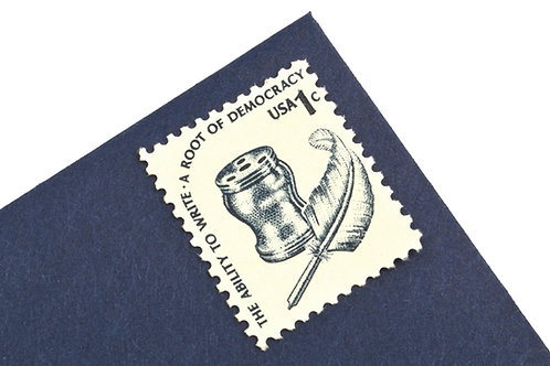 1¢ Inkwell & Quill - 25 Stamps