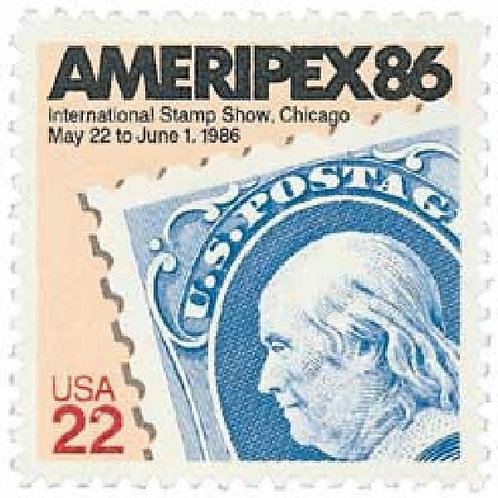 Pack of 24 Unused Ameripex '86 Stamps - 22c - 1985 - Unused Vintage Postage