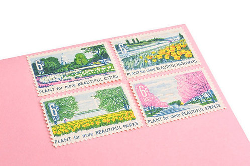 Pack of 25 Unused Beautification Stamps - 6c - Vintage - 1969