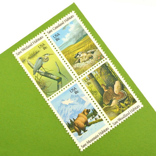 18¢ Wildlife Habitats - 25 Stamps