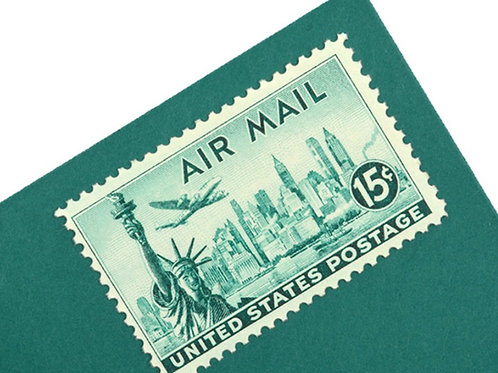 15¢ New York Statue of Liberty Air Mail - 25 Stamps
