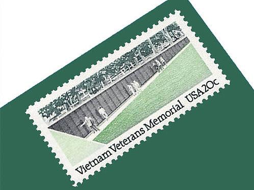 Pack of 20 Unused Vietnam Veterans' Memorial Postage Stamps - 20c - 1984