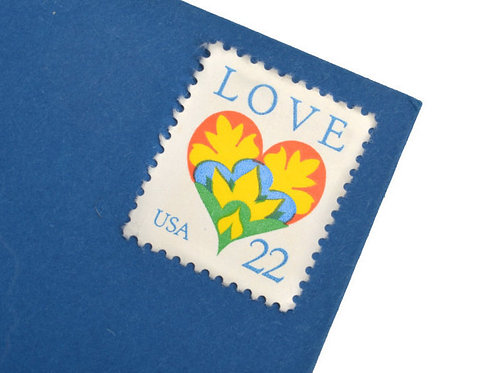 22¢ Love Heart - 25 Stamps