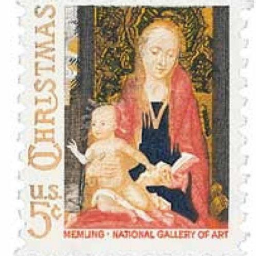 Pack of 25 Unused Christmas Madonna and Child - 5c - 1966 - Unused Vintage