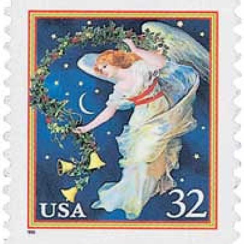Pack of 20 Unused Midnight Angel Christmas Stamps - 32c - 1995 - Unused Vintage