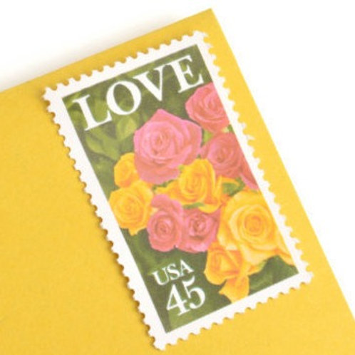 45¢ Love & Roses - 25 Stamps