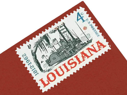 4¢ Louisiana Riverboat - 25 Stamps