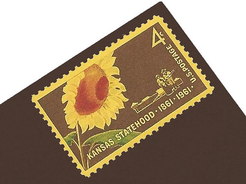 4¢ Kansas Statehood Sunflower - 25 Stamps
