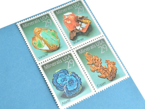 29¢ Minerals - 25 Stamps