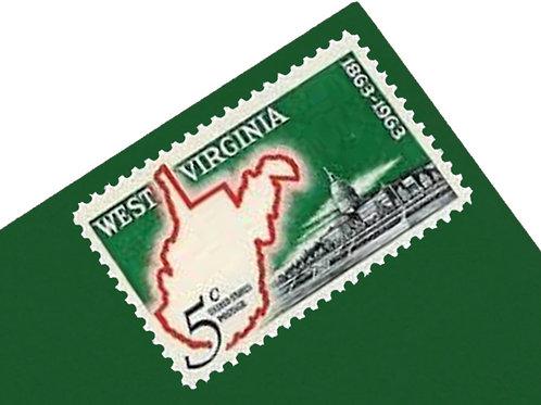 5¢ West Virginia Statehood - 25 Stamps