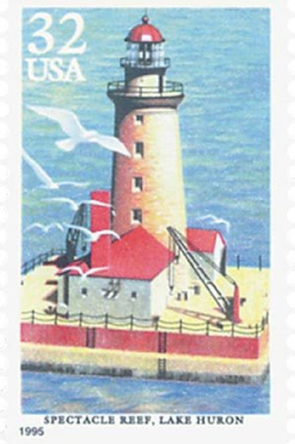25 Unused Lighthouses Stamps - 32c - Vintage 1995 - Unused Postage