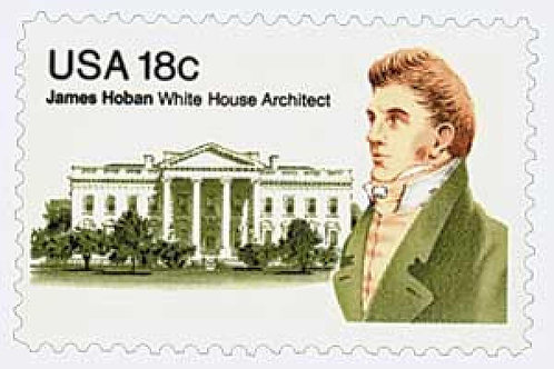 Pack of 25 Unused James Hoban - 18c - 1981 - Unused Vintage Postage