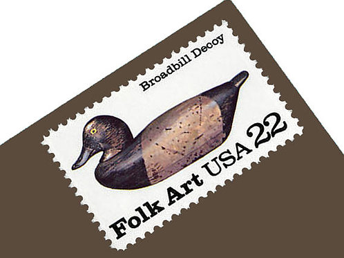 Pack of 20 Unused Duck Decoys Postage Stamps - 22c - 1985 - Unused - Quantity of