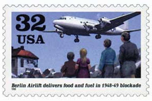 20 Berlin Airlift Postage Stamps - 32c - 1998 - Unused - Quantity of 20