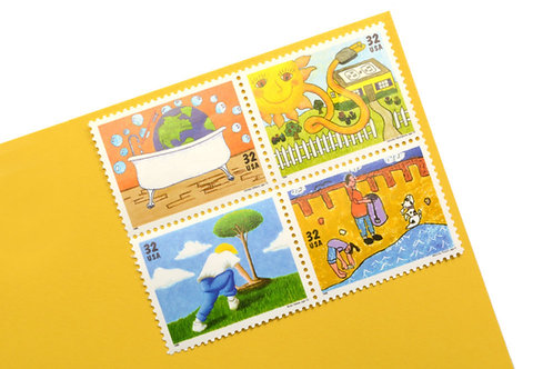32¢ Kids Care About the Environment - 16 Stamps