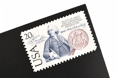 20¢ U.S.- Sweden Treaty of Amity - 25 Stamps
