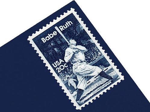 Pack of 25 Unused Babe Ruth Stamps - 20c - 1983 - Unused Vintage Postage - Quant