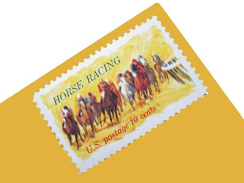 Pack of 25 Unused Horse Racing Postage Stamps - 10c - 1974 - Unused