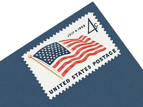 4¢ US Flag with 49 Stars  - 25 Stamps