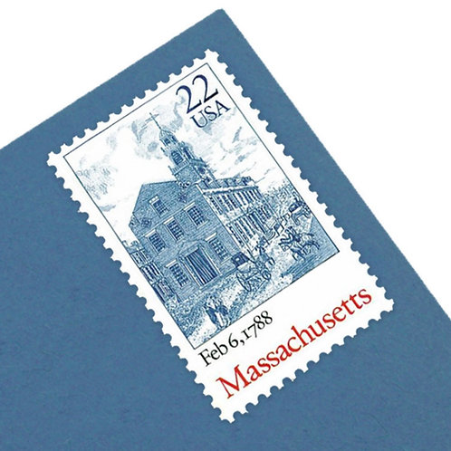 22¢ Massachusetts Statehood - 25 Stamps
