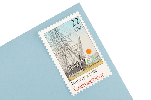 22¢ Connecticut - 25 Stamps