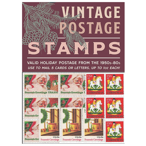 WHOLESALE Vintage Holiday Postage Stamps 2018 - Red Pack