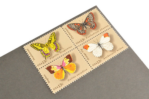 13¢ Butterfly - 25 Stamps