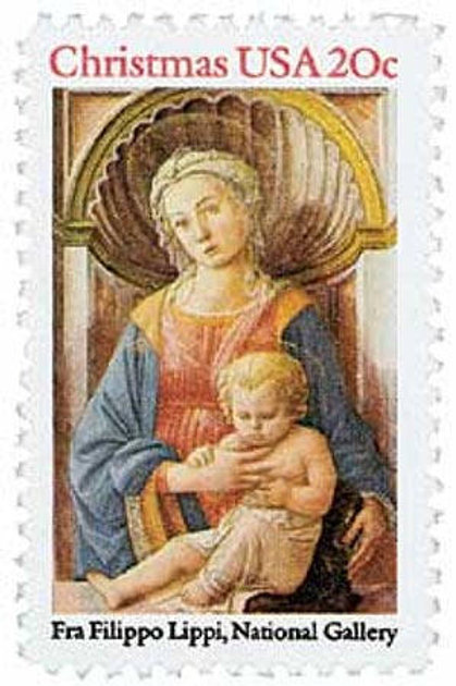 Pack of 25 Unused Christmas Madonna and Child Stamps - 20c - 1984 -Vintage