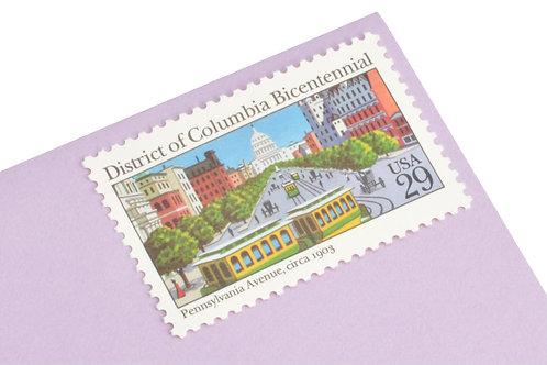 29¢ Washington D.C. Bicentennial - 25 Stamps