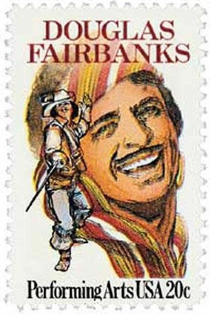 Pack of 25 Unused Douglas Fairbankse Stamps - 20c - 1984