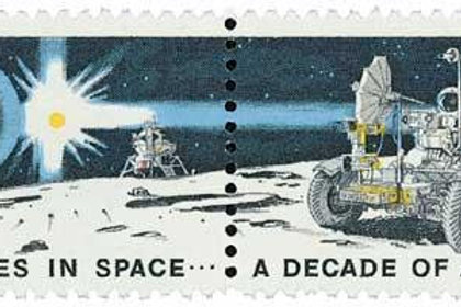Pack of 25 Space Achievement Decade Stamps - 8c - 1971 - Unused Vintage Postage