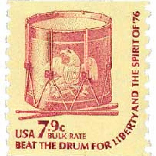 Pack of 25 Unused Drum Stamps - 7c - 1976 - Unused Vintage Postage
