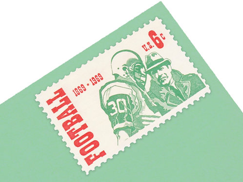6¢ Football - 25 Stamps