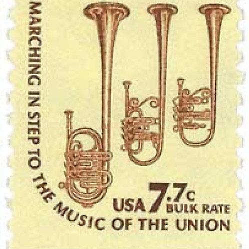 Pack of 25 Unused Saxhorn coil Stamps - 7.7c - 1976 - Unused Vintage Postage