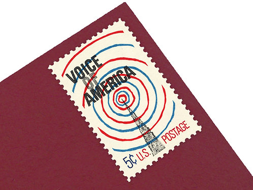 5¢ Voice of America Radio - 25 Stamps