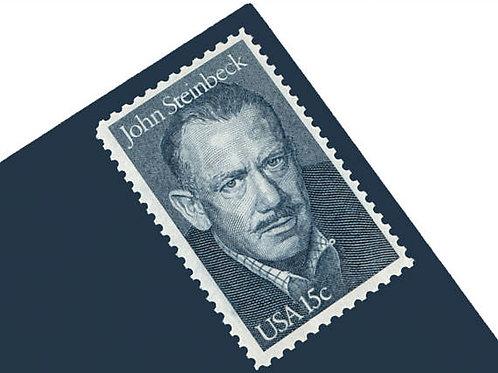 Pack of 25 Unused John Steinbeck Stamps - 15c - 1979 - Unused Vintage Postage -