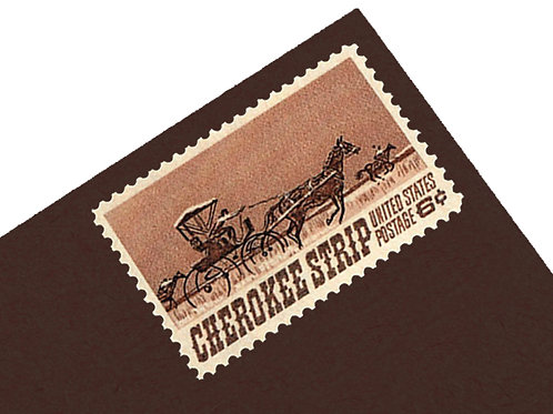 6¢ Cherokee Strip Horse - 25 Stamps