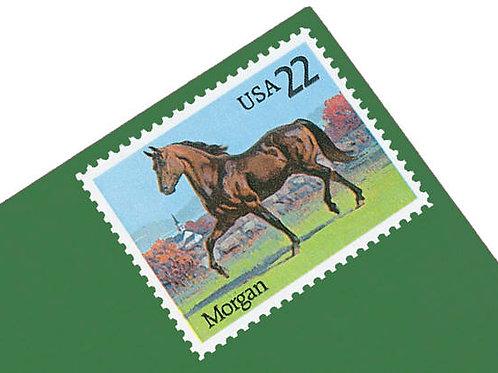Pack of 24 Unused Unused Horses Stamps - 22c - 1985 - Unused Vintage Postage