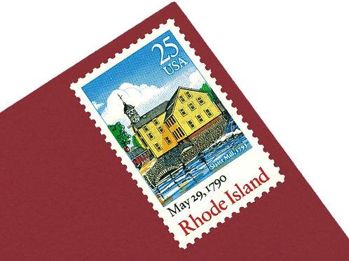 25¢ Rhode Island Statehood - 25 Stamps