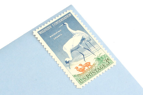 3¢ Whooping Cranes - 25 Stamps