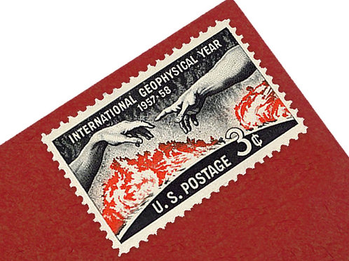 3¢ International Geophysical Year - 25 Stamps