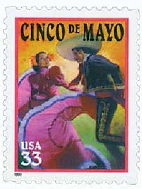 20 Unused Cinco de Mayo Stamps - 33c - Vintage 1999 - Unused Postage