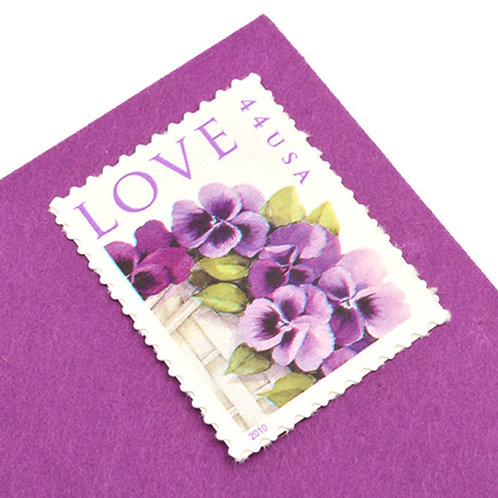 44¢ Pansies Love - 20 Stamps