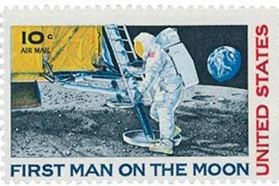 20 Moon Landing - 10c - Unused Vintage Postage from 1969